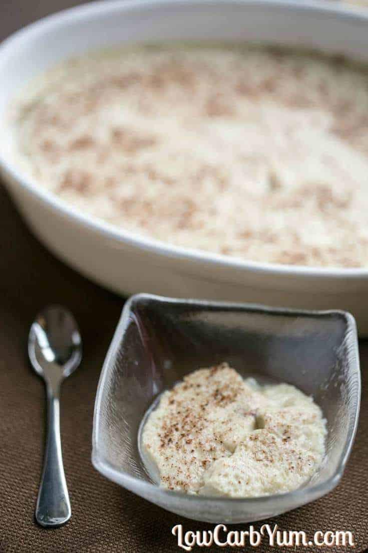 low-carb crock pot rice pudding