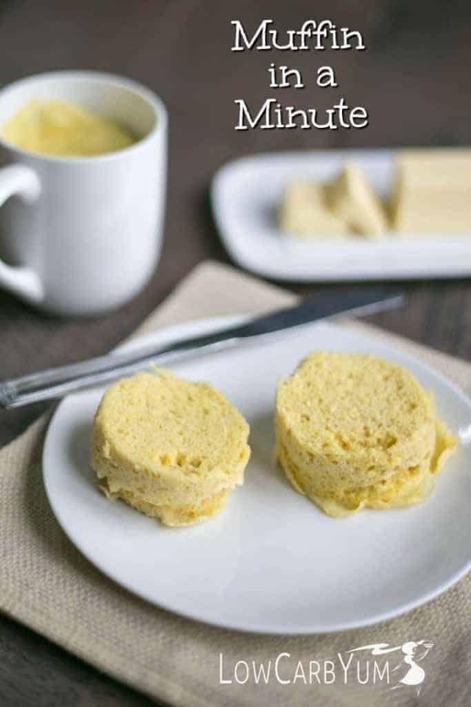 Minute Microwave Muffin in a Mug Low Carb Yum