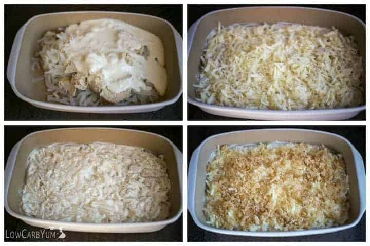 Low carb shiratake tuna noodle casserole