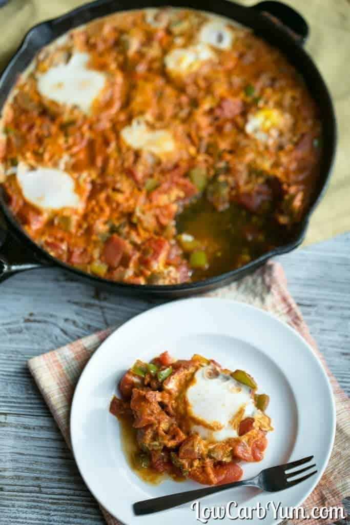 Paleo gluten free shakshuka from Yiddish Kitchen