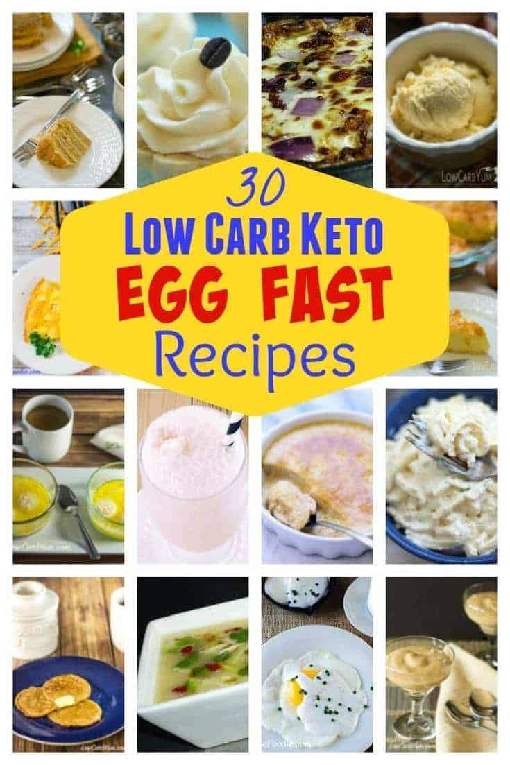 Struggling to lose weight on a low carb diet? An egg fast diet plan may help. Here's 30 egg fast recipes to kick in ketosis quickly to initiate weight loss. #lowcarb #keto #eggfast #ketorecipe | LowCarbYum.com