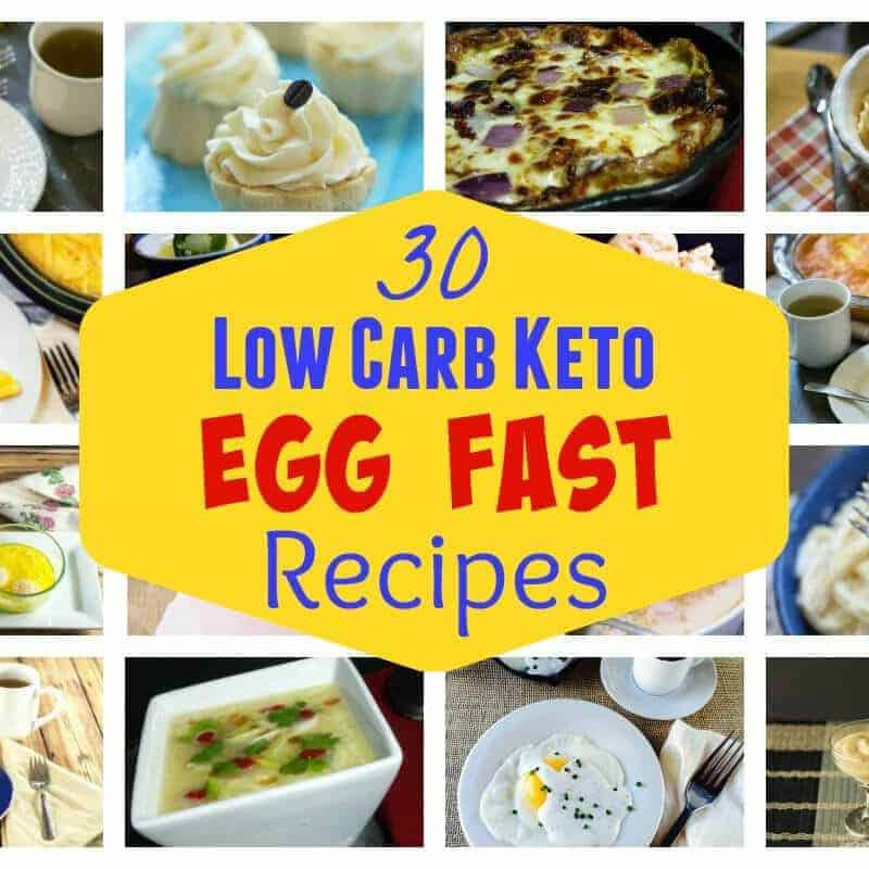 Egg Fast Diet Plan Recipes for Weight Loss | Low Carb Yum