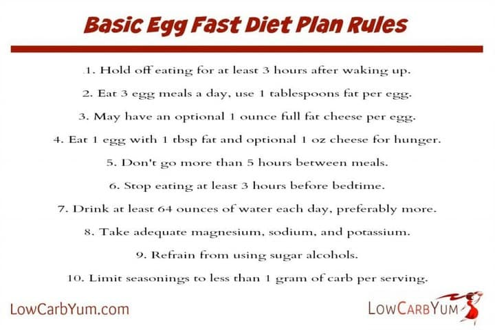 Egg Fast Diet Plan Recipes For Weight Loss Low Carb Yum