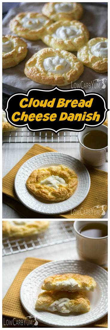 An egg fast friendly cloud bread cheese danish recipe that's super low in total carbs. It's a nice low carb treat to enjoy any time of day.