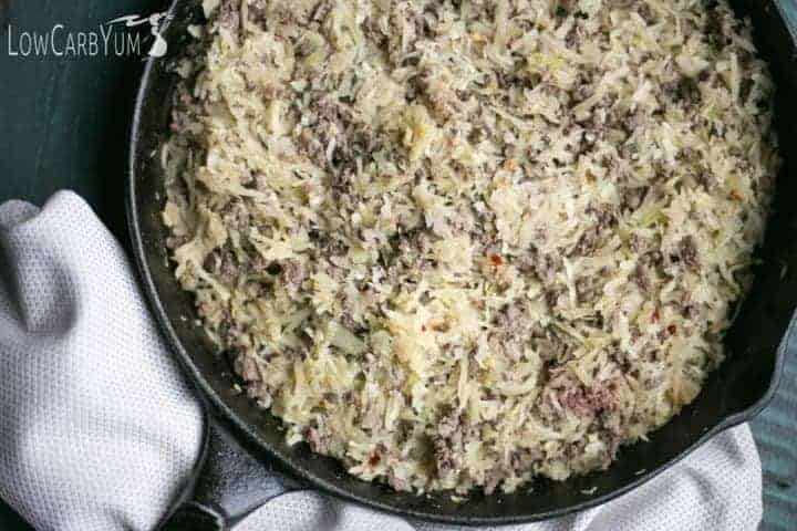 Low carb crack slaw cabbage beef