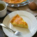 Low carb egg fast cheddar quiche