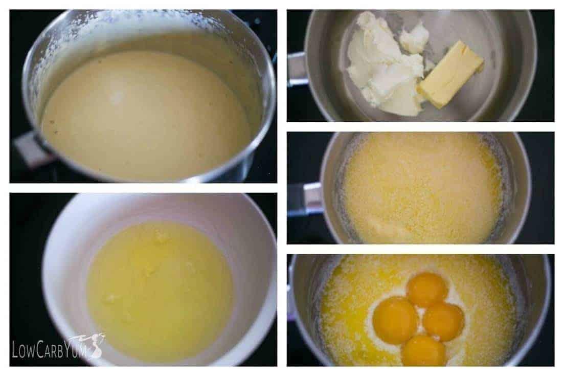 Low carb egg fast vanilla frozen custard ice cream | LowCarbYum.com