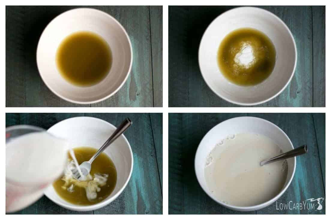 Low carb matcha green tea chia pudding recipe