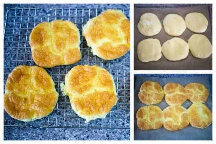 Baking and cooling keto cloud bread