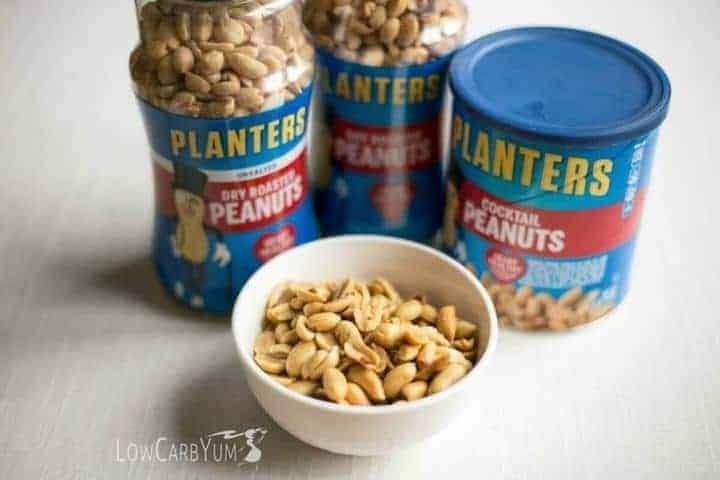 Low carb keto peanut clusters snack   LowCarbYum.com