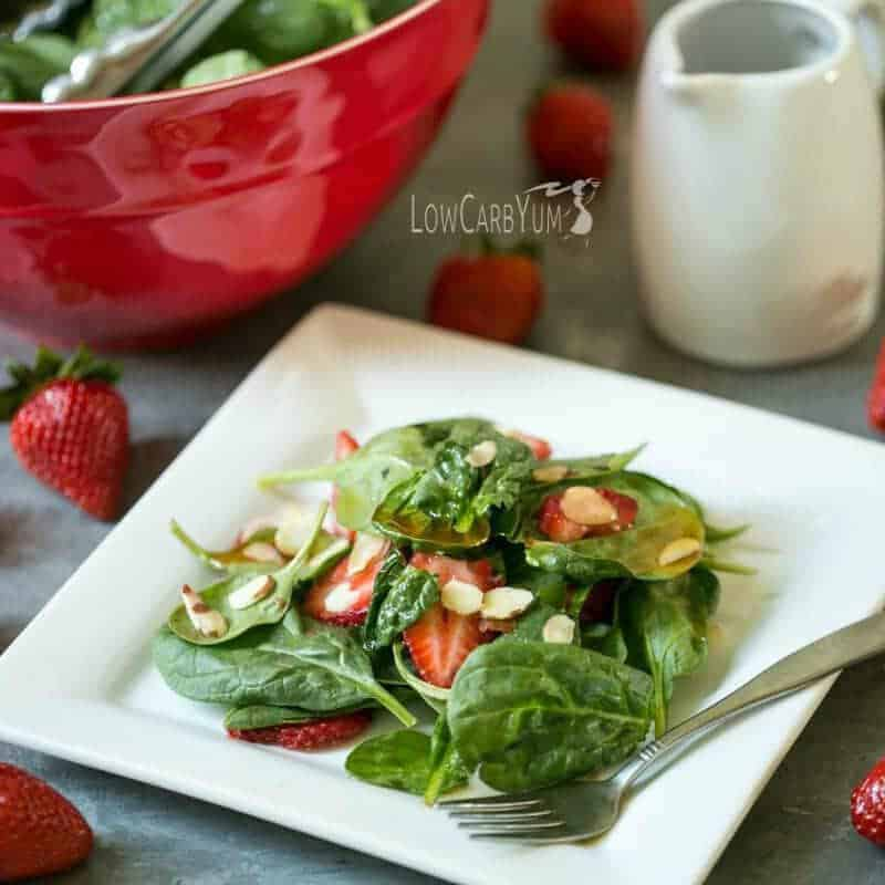 Spinach Strawberry Salad with Vinaigrette