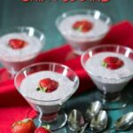 Low carb strawberry almond milk chia pudding