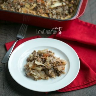 Low carb unstuffed cabbage roll bake