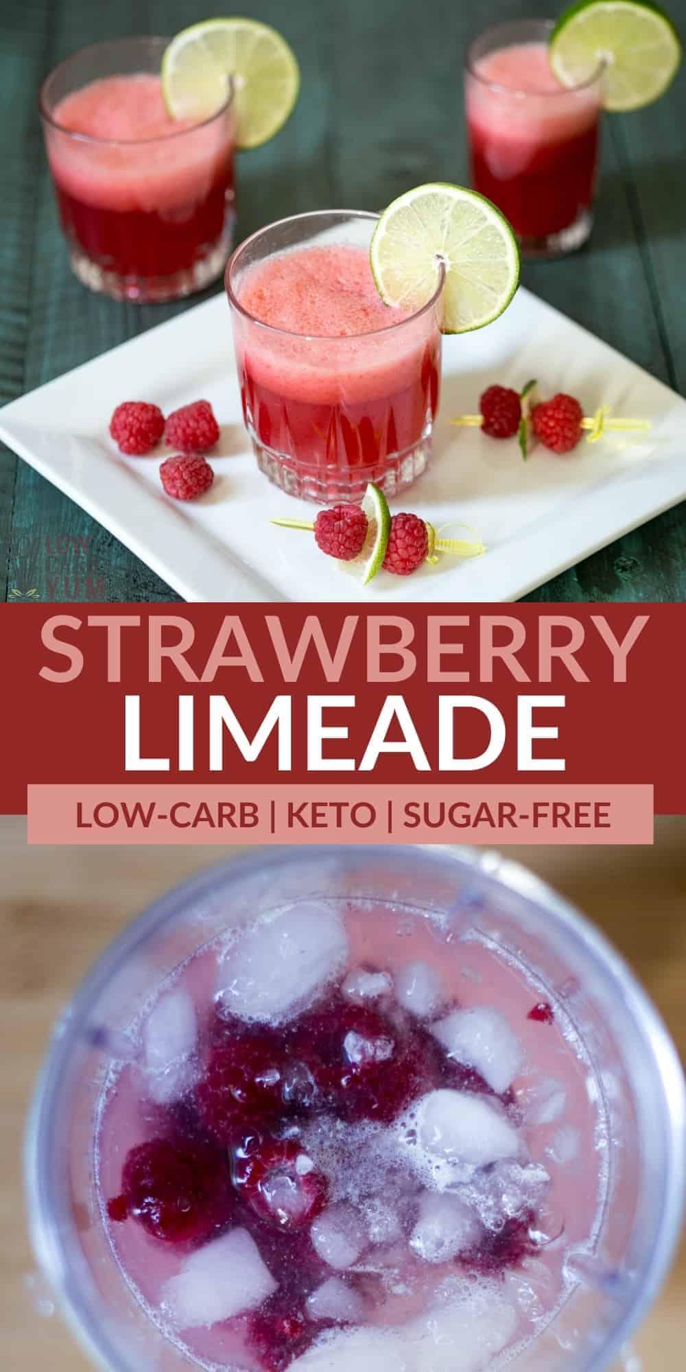 strawberry limeade mocktail