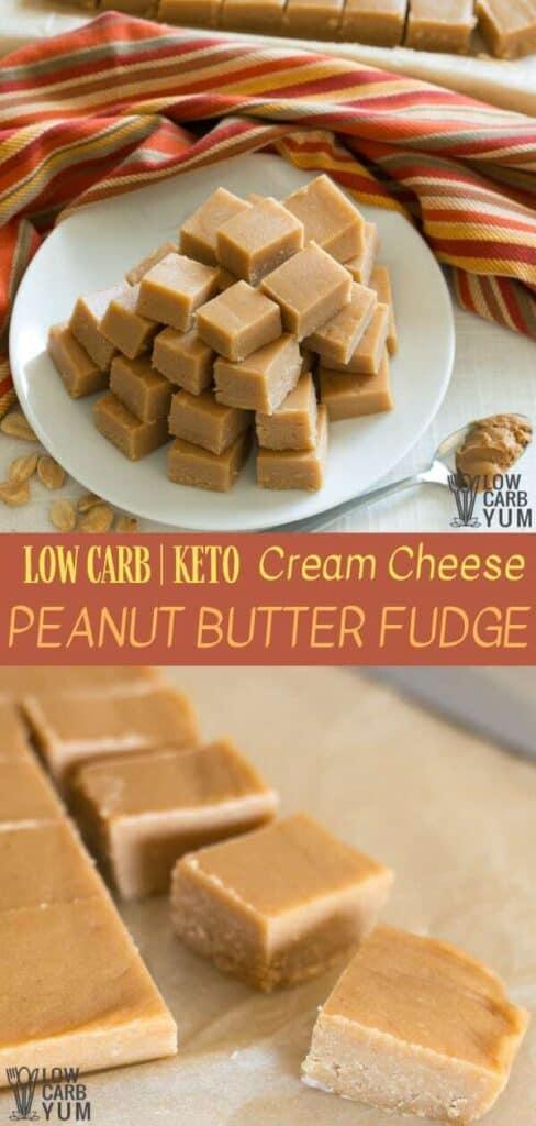 Best Keto Peanut Butter Fudge Recipe with Cream Cheese