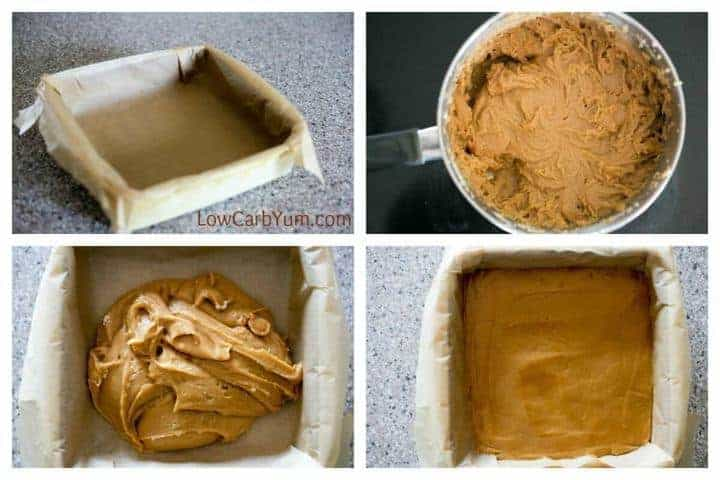 Low carb cream cheese peanut butter fudge