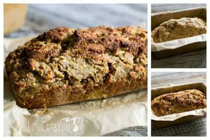 Low carb gluten free yellow summer squash bread