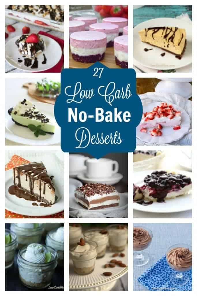 Leave the oven off with these easy no bake low carb desserts that can be whipped up in no time. No bake desserts are perfect for all your summer gatherings! | LowCarbYum.com