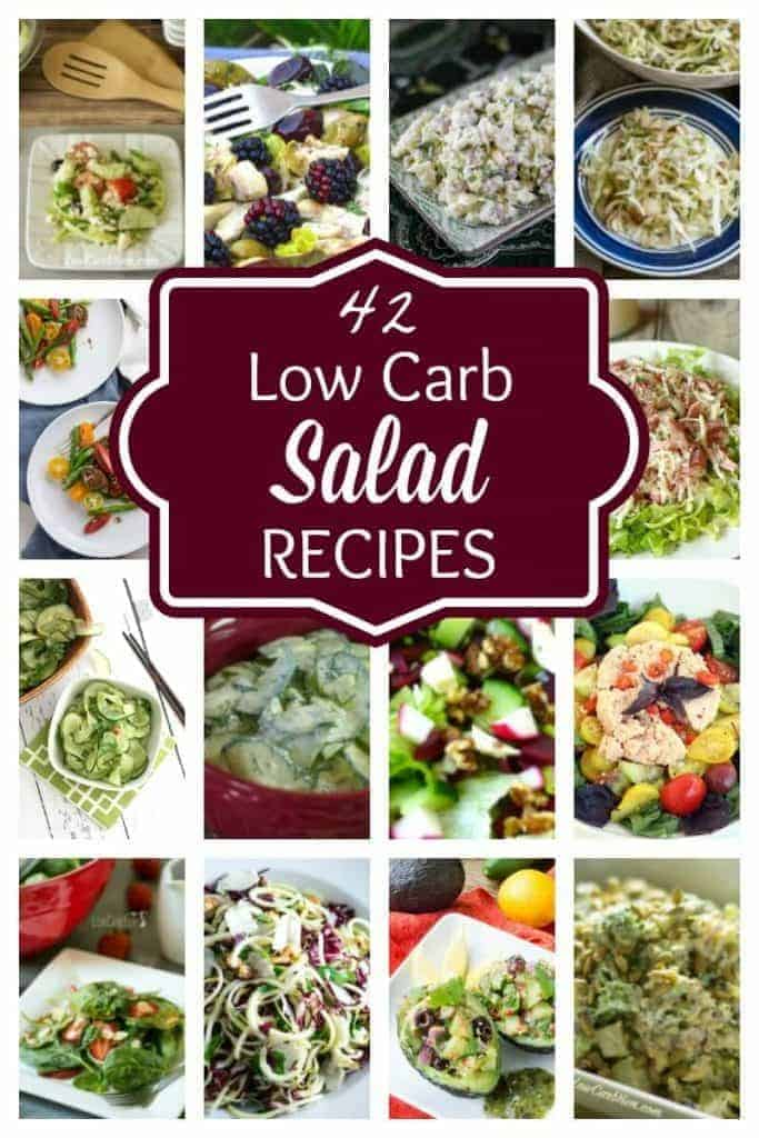A collection of easy low carb salads that are perfect for summer. Salads are also perfect for sharing when getting together with friends and family.