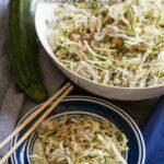 Low carb spiralized zucchini Asian salad