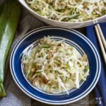 Low carb spiralized zucchini Asian salad