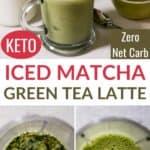 iced keto matcha green tea latte