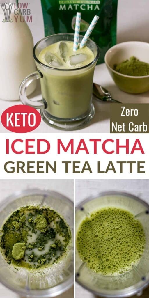 iced keto matcha green tea latte