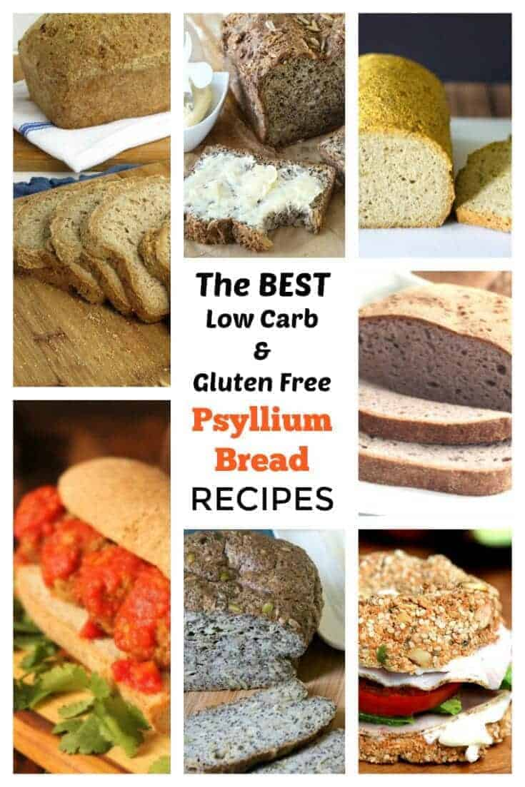 Want to have a little bread on low carb? Have you tried bread made with psyllium? Here's a collection of the best low carb psyllium bread recipes.