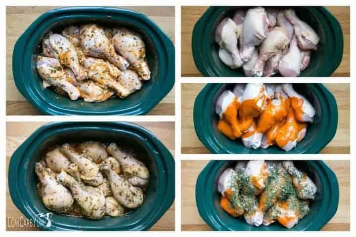 Slow cooker crock pot Buffalo chicken drumsticks