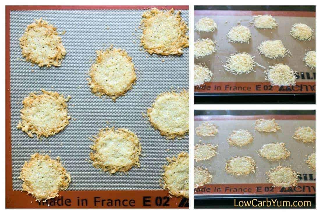 baking parmesan crisps