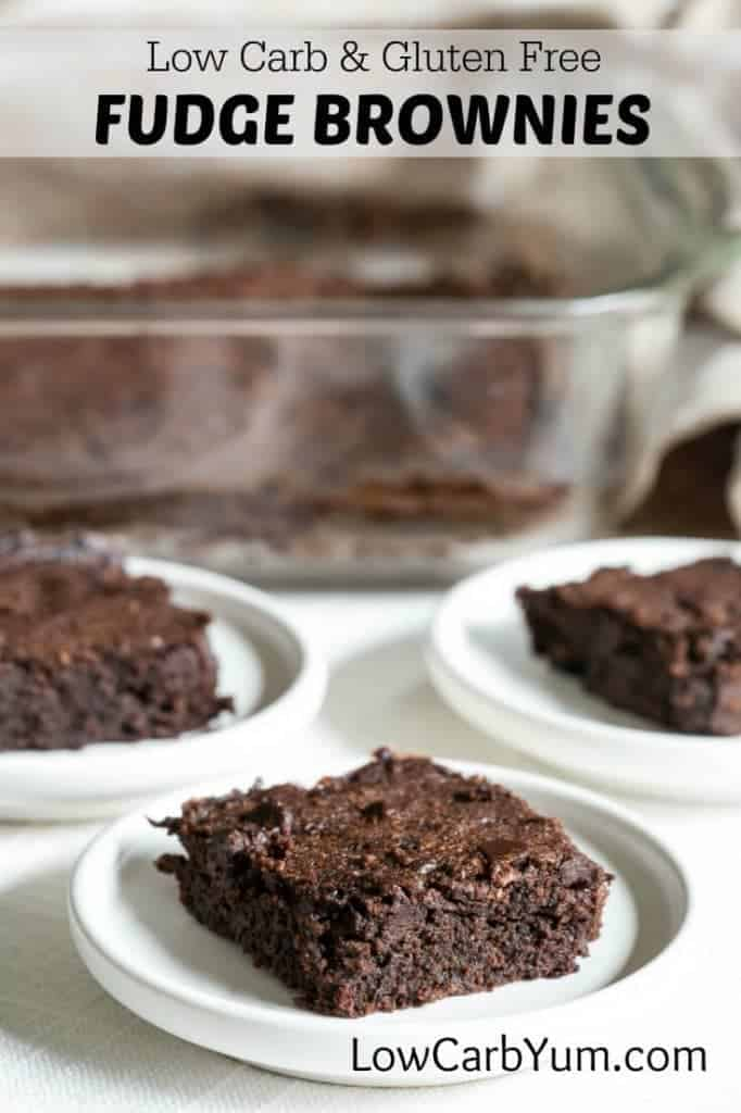 Fudgy low carb brownies