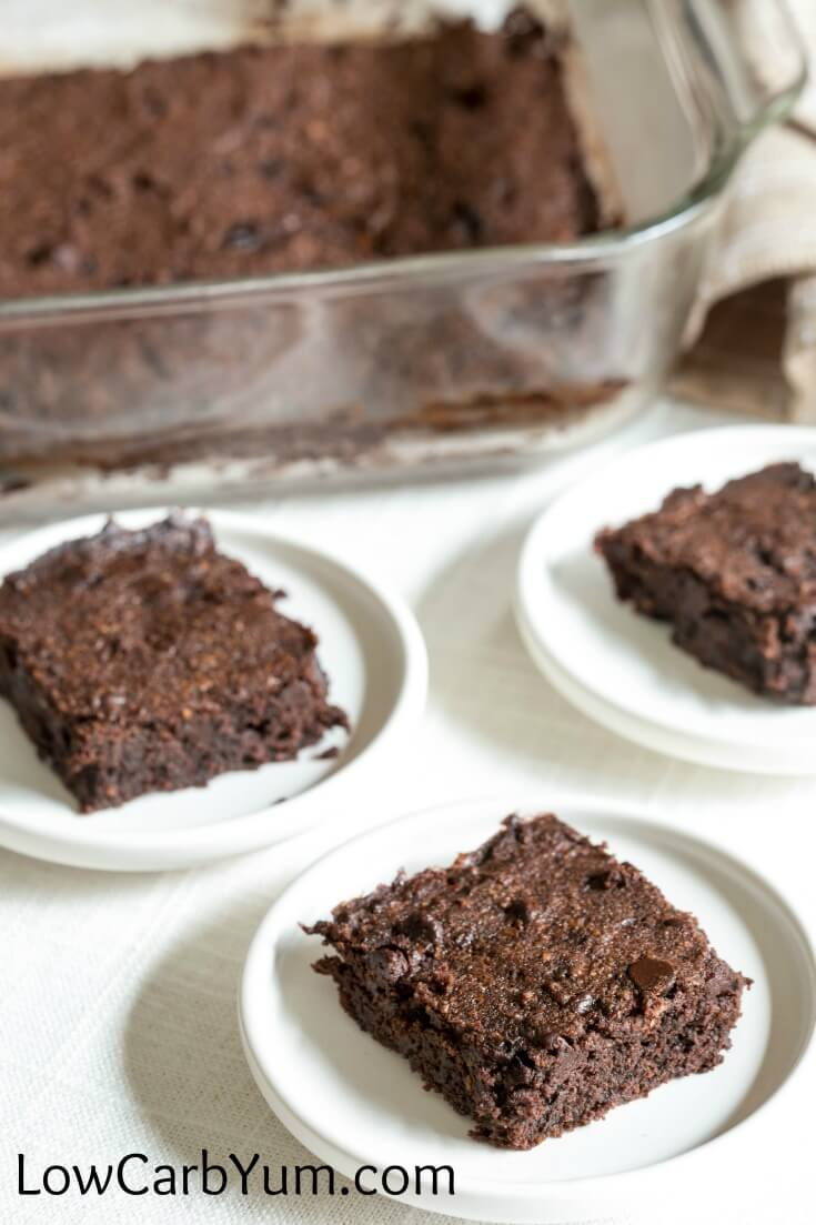 These low carb brownies are so rich and fudgy it's hard to distinguish them from the real thing. A welcoming treat for the chocolate lover's sweet tooth.