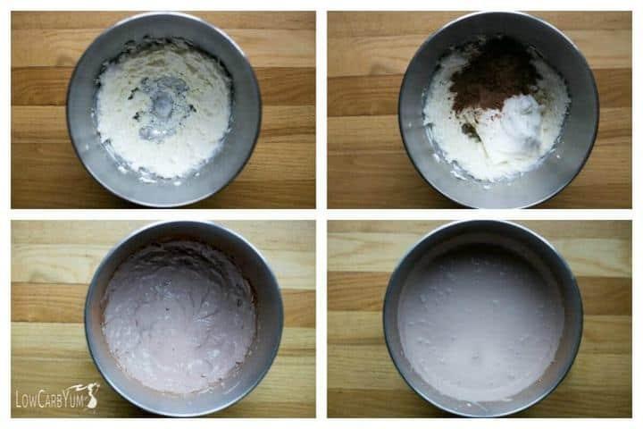 Low carb chocolate cherry cheesecake ice cream