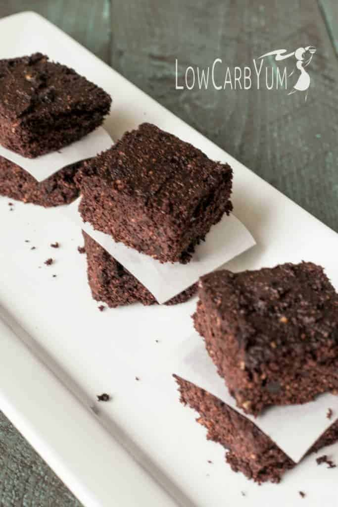 Not a fan of avocados? You'd never know they were in these low carb gluten free chocolate avocado brownies! Why not give them a try and see.