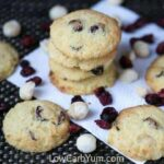 Low carb gluten free coconut flour cranberry orange cookies