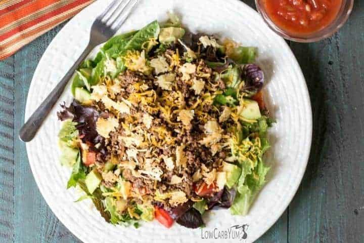 Low carb gluten free taco salad