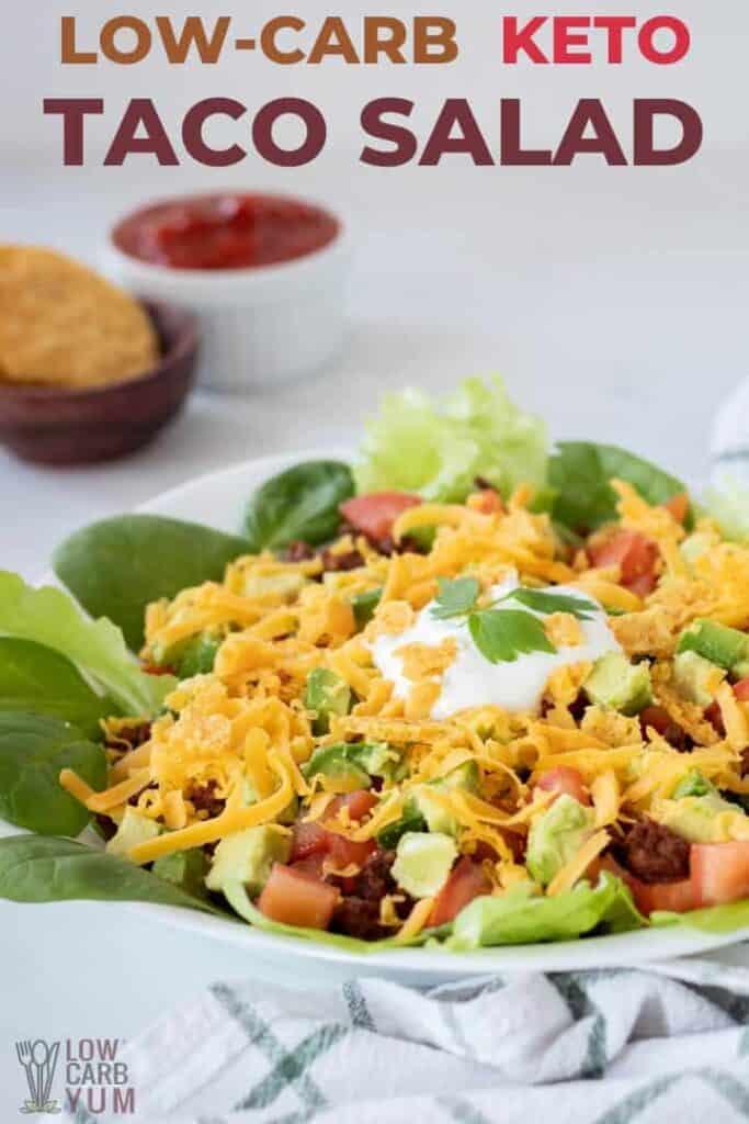 low carb keto taco salad