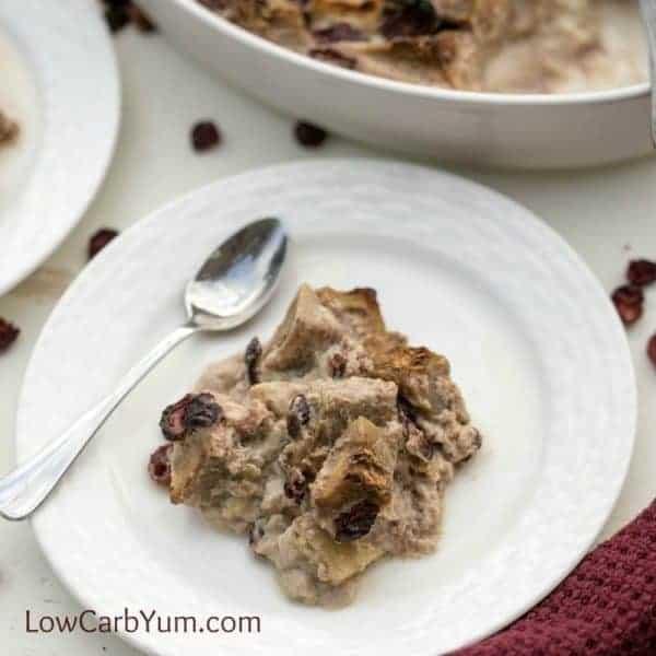 Cranberry Eggplant Bread Pudding Recipe