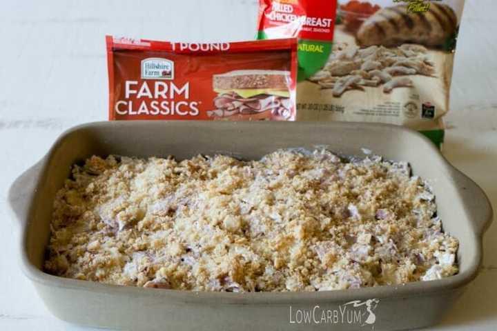 Low carb chicken cordon bleu casserole