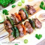Low carb chicken fajita kebabs recipe