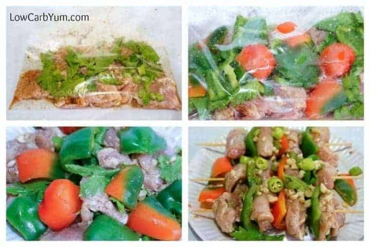 Low carb chicken fajita kebabs recipe