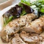 Low carb Crock Pot balsamic tenderloin