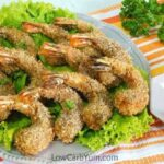 Low carb gluten free coconut shrimp