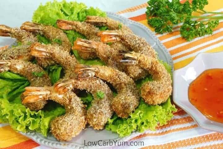 serving keto coconut shrimp