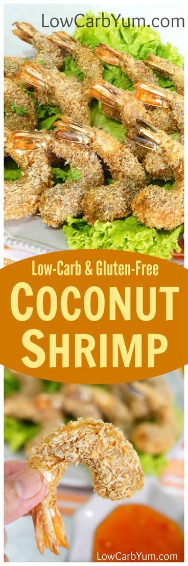 Crispy Low Carb Coconut Shrimp Gluten Free Low Carb Yum