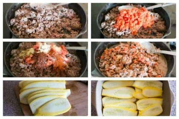 Low carb gluten free yellow summer squash taco casserole