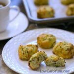 Low carb gluten free simple drop biscuits with zucchini and cheese