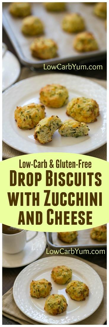 Not sure what to do with your summer zucchini crop? Why not give these low carb zucchini drop biscuits with cheese a try? They are so good!