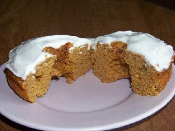 Low Carb Gluten Free Pumpkin Cake Donut