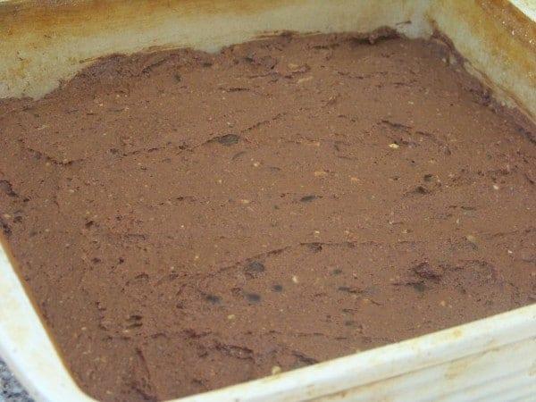 Soy Bean Brownie Batter Spread in Pan